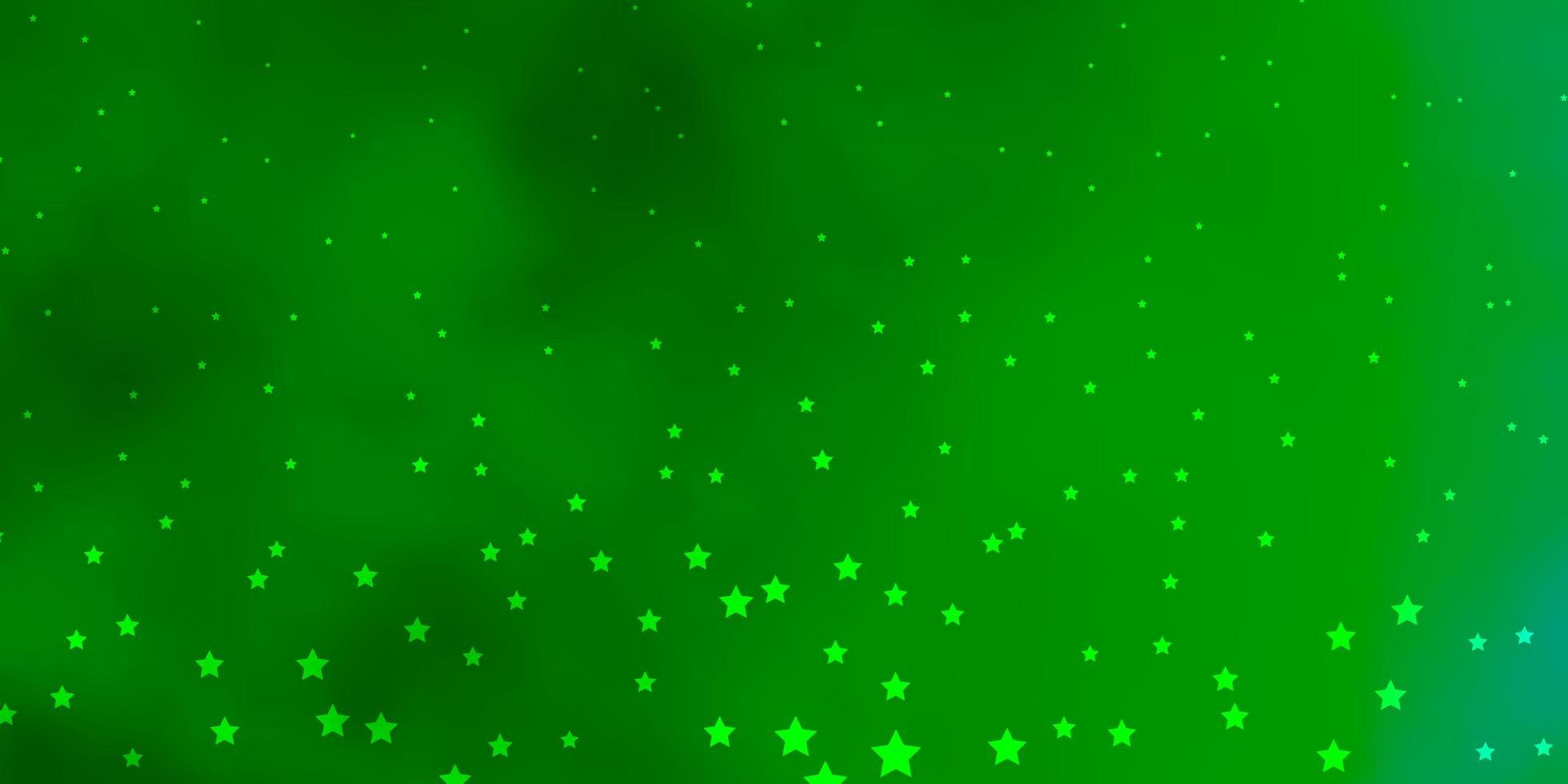 textura verde com belas estrelas. vetor
