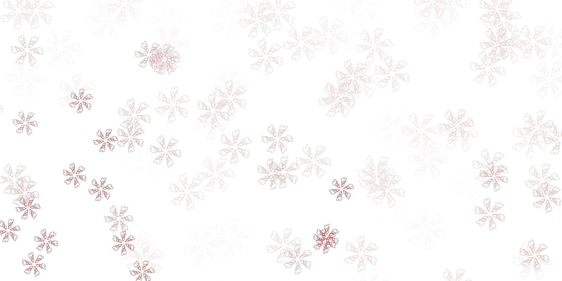 layout abstrato vermelho claro com folhas. vetor