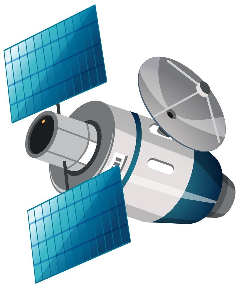 satélite isolado em fundo branco vetor