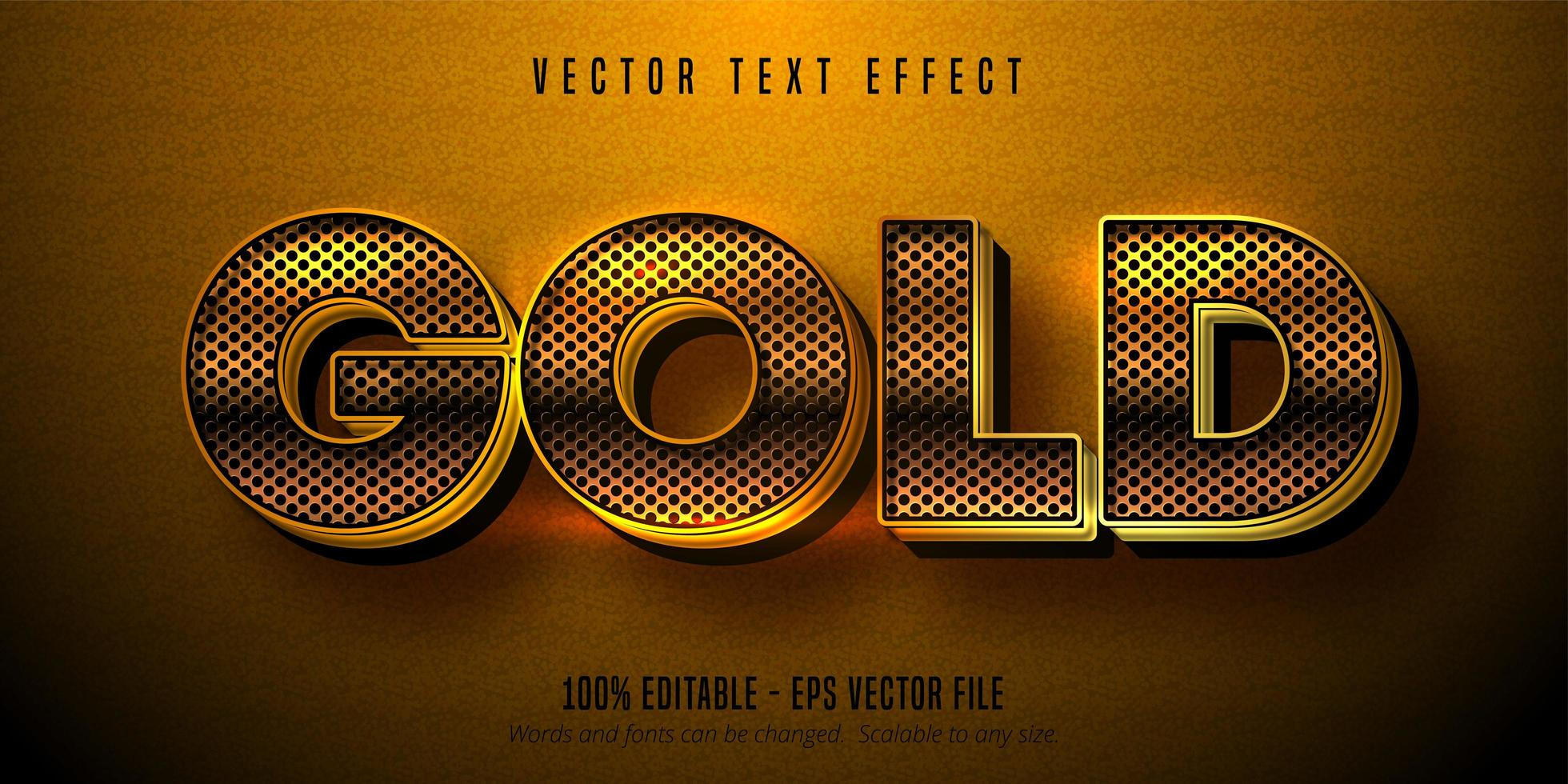 efeito de texto dourado metálico, estilo alfabeto dourado brilhante vetor