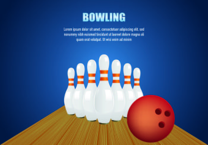 Bowling Vector Background