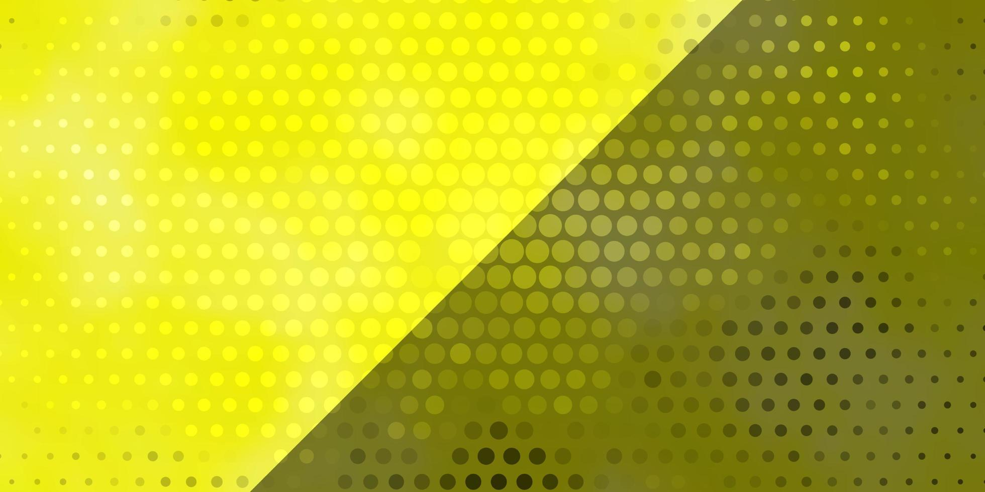 padrão amarelo com círculos. vetor