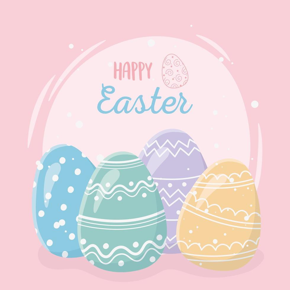 feliz celebração do dia de páscoa vetor
