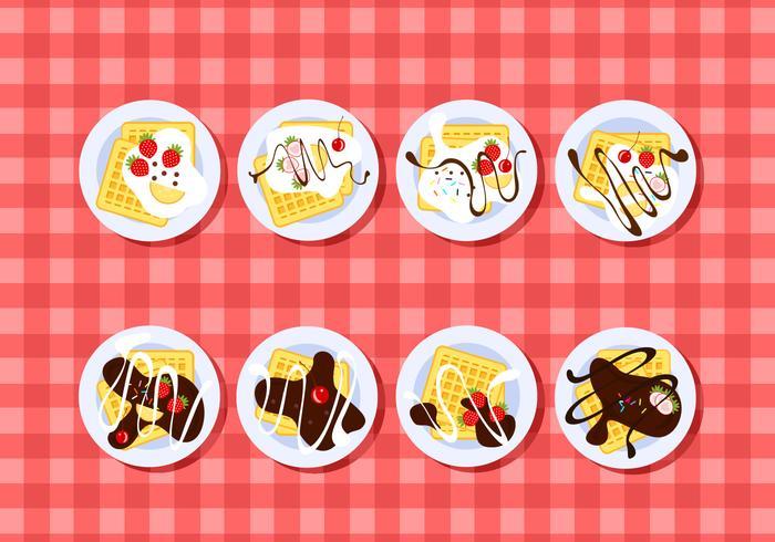 Chapeamento Waffle Free Vector