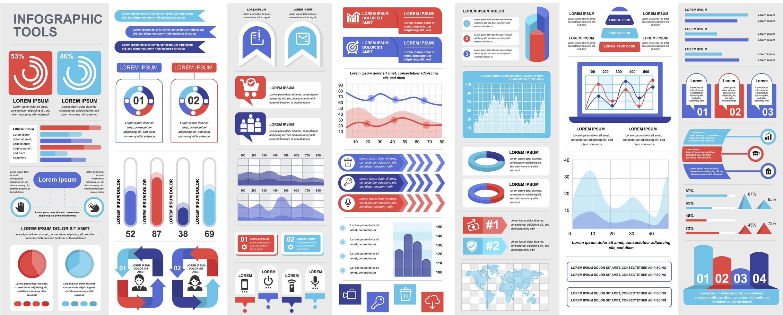 infográfico, ui, ux, pacote de elementos do kit vetor
