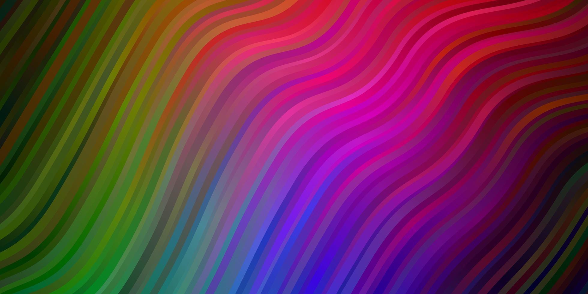 fundo multicolor com curvas. vetor