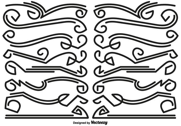 Divisores linha abstrata - Vector