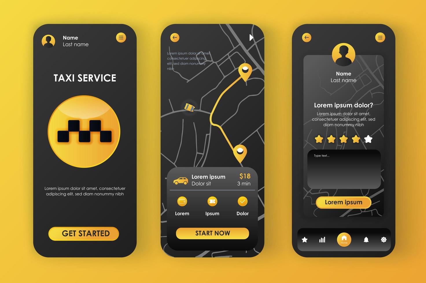 serviço de táxi, design neomórfico único vetor