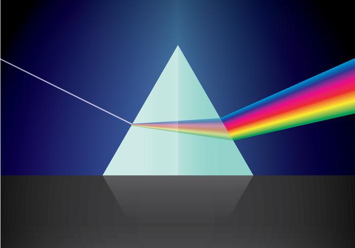 Triangular Prisma e Luz vetor