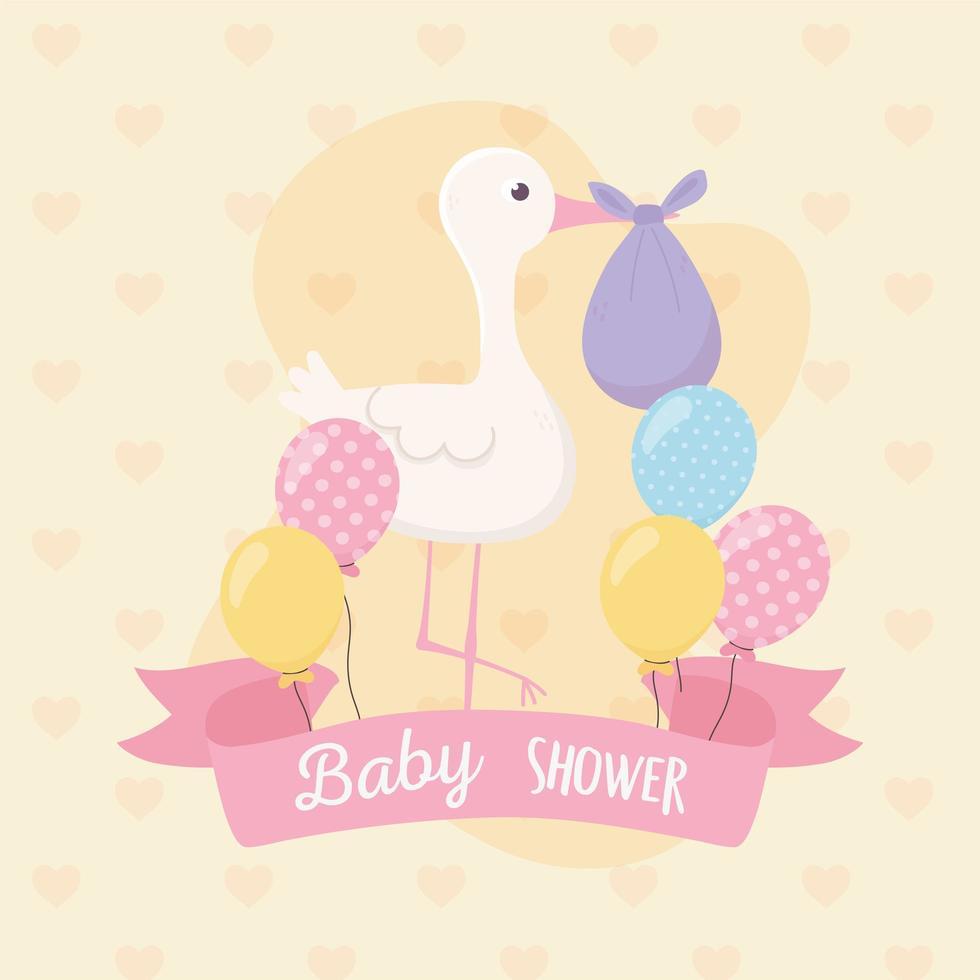 cartão de chá de bebê fofo vetor