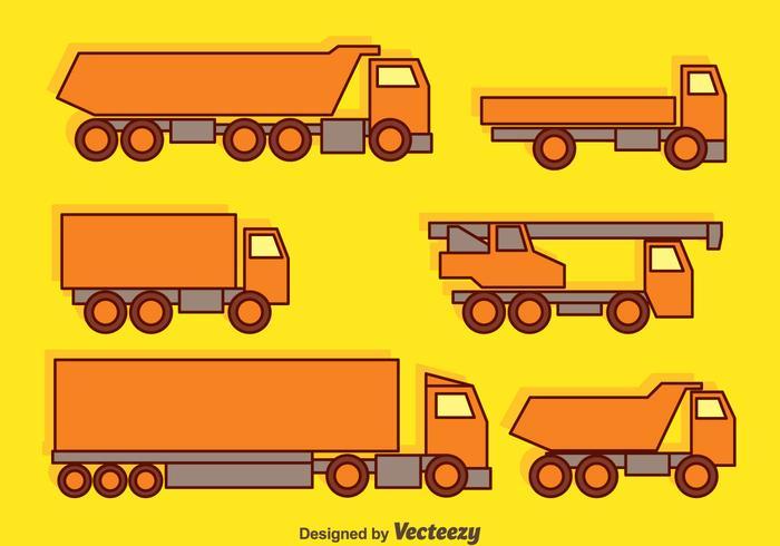 Vector camiões de recolha