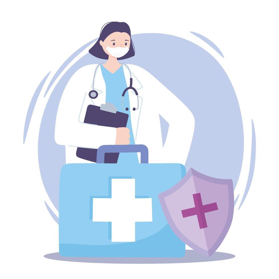 médica e kit médico vetor