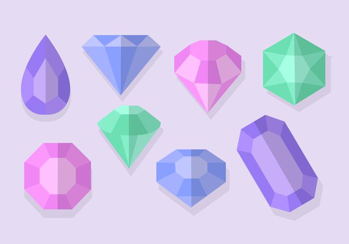 Free Vector Sparkly Gems