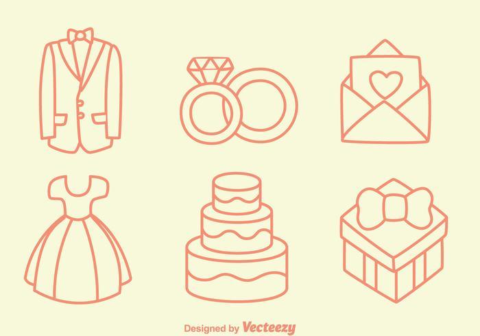 Esboço casamento Elemento Vectors