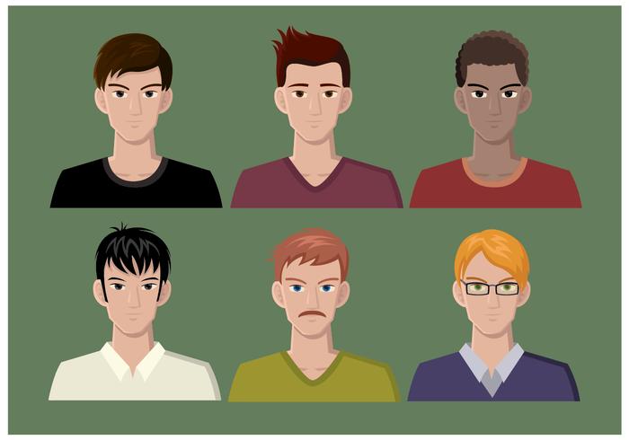 Free Vector Male Headshots