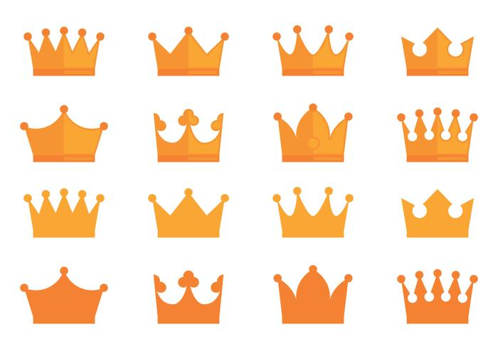 Crown Prêmios Icons Collection vetor