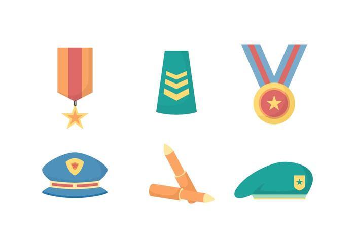 Livre elegante Militar Elemento Vectors