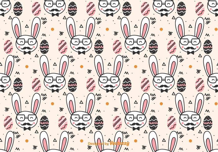 Pattern Doodle Hipster Páscoa vetor