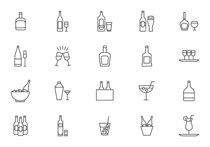 Cocktail livre e Spritz Vectors