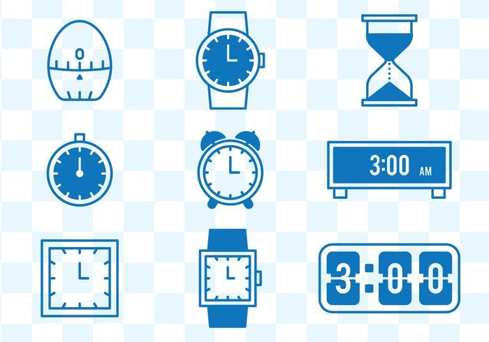 Ícones relógio vetor