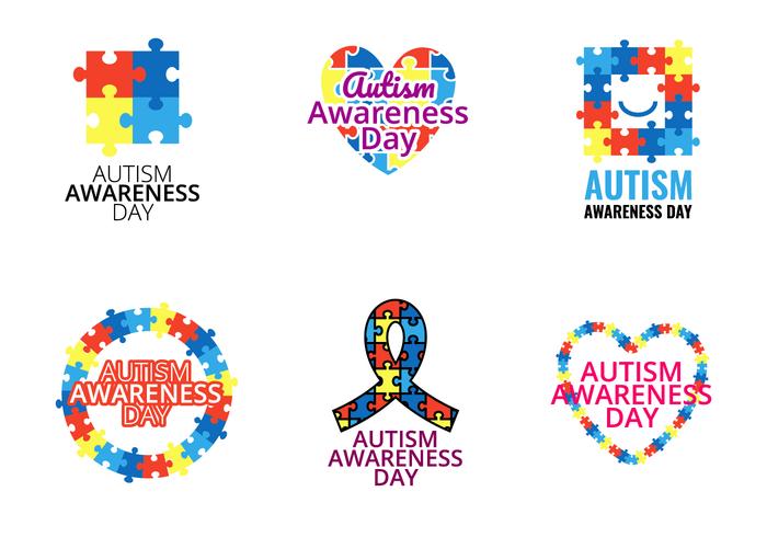 Vector Dia consciência do autismo