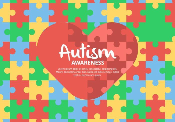 Enigma do fundo autismo vetor