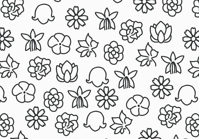Flowers Black & White vetor
