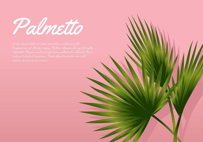 Palmetto rosa Background Vector grátis