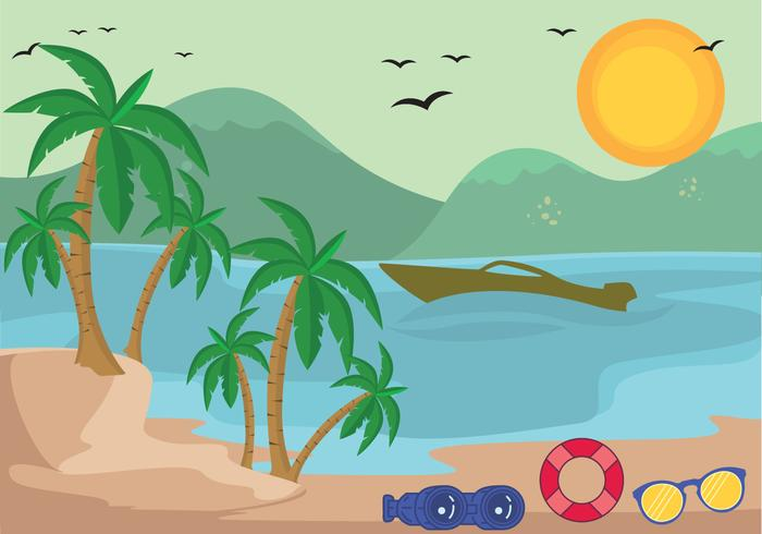 Tropical Vector Palm Beach