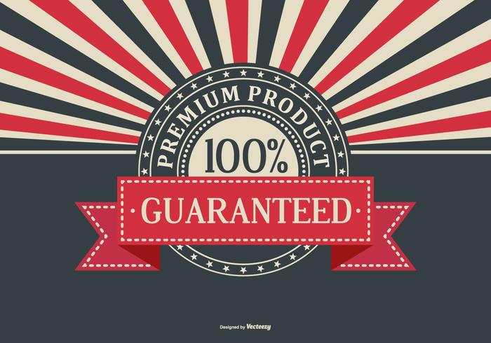 Fundo retro Promotional Produto Premium vetor