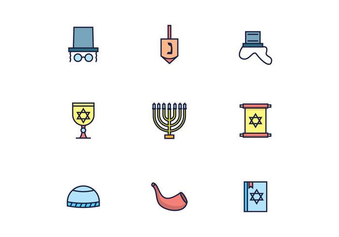 Judaísmo Ícones vetor