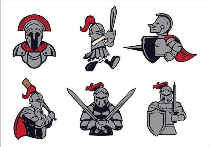 Livre Cavaleiros Logo Vector Set