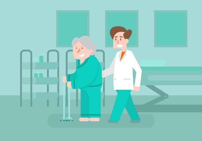 Ilustração do fisioterapeuta vetor