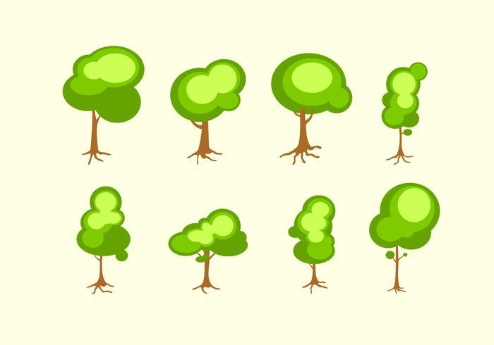 Brilhante Árvore Com Roots Vector Livre