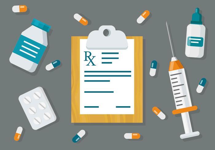 Free Medical Prescription Pad Vetor de fundo