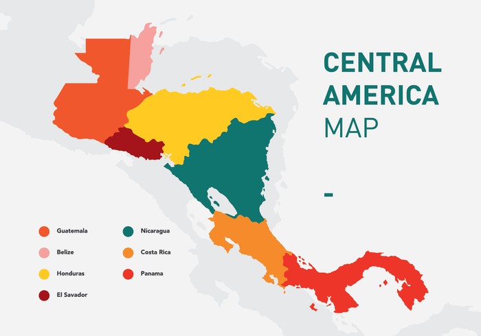 Mapa vetorial da América Central vetor
