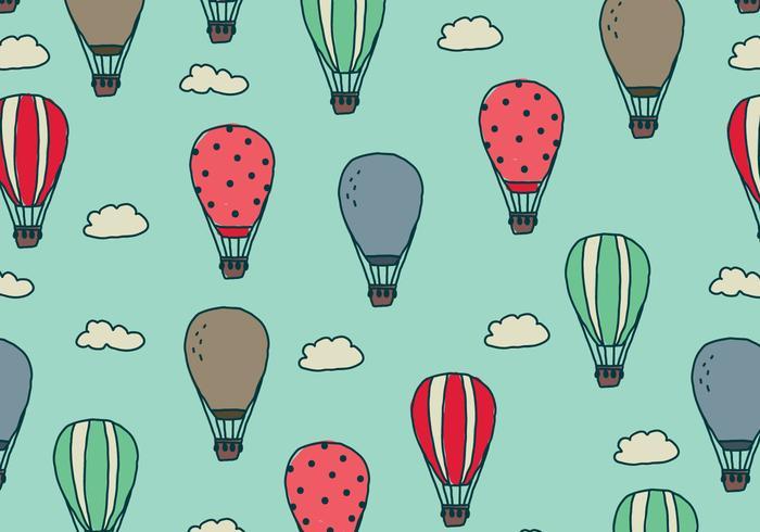 Balões de ar doodled no céu vetor