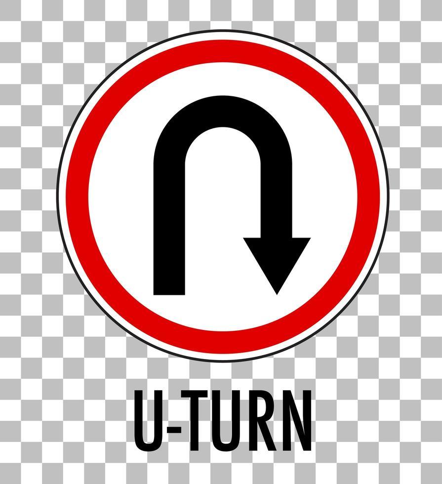 sinal de retorno isolado em fundo transparente vetor