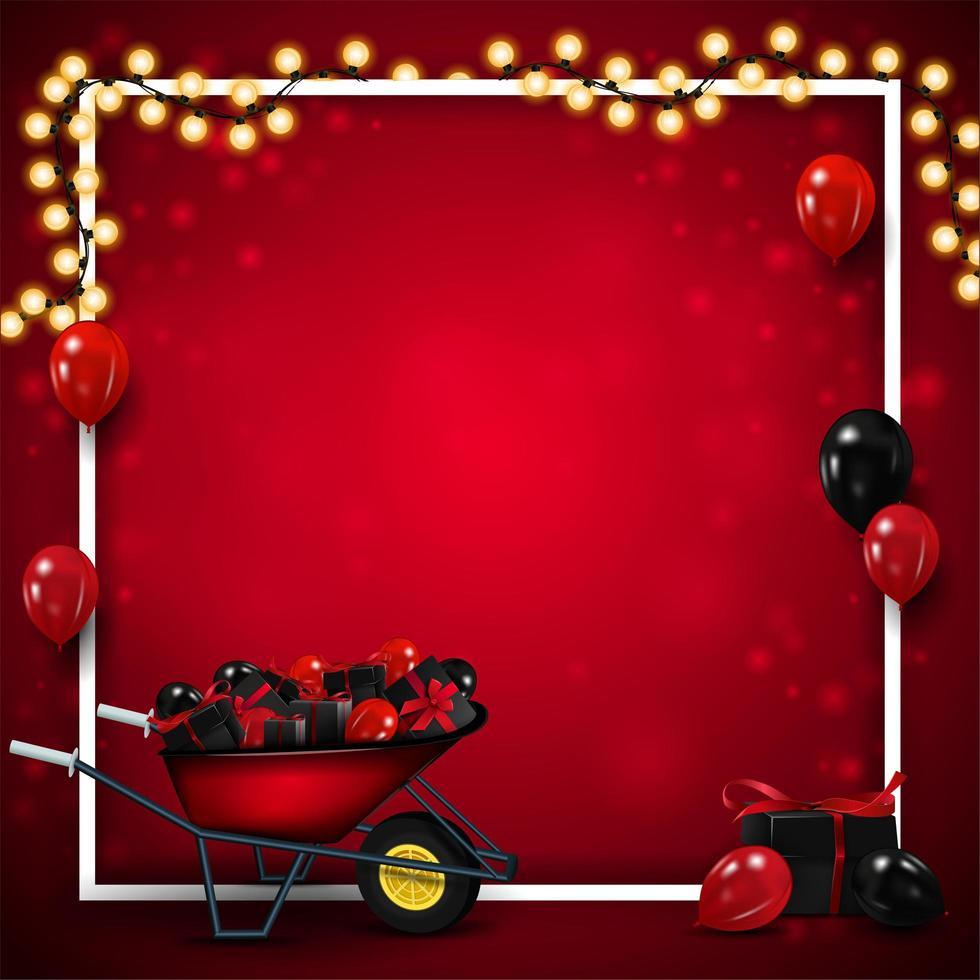 modelo vermelho em branco para sexta-feira negra vetor