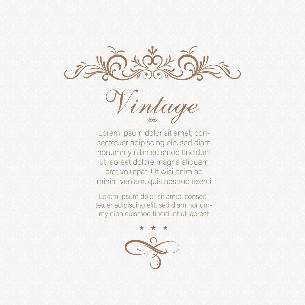 divisor de página vintage decorativo vetor