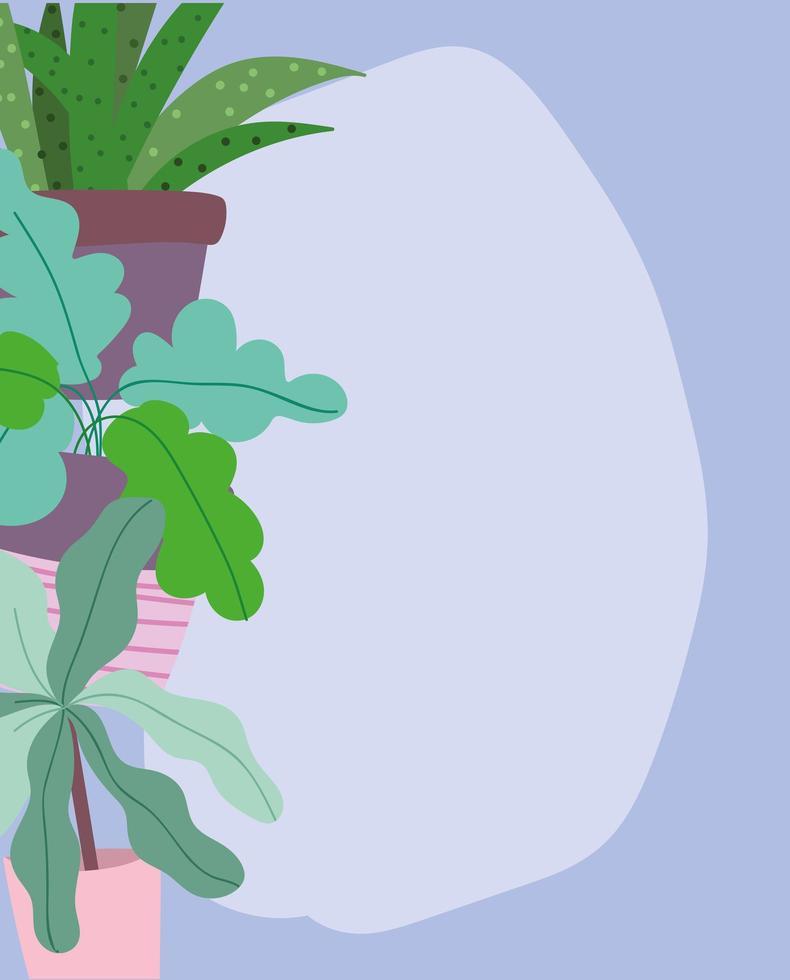 folhagem, folhas e fundo de banner de vegetação vetor