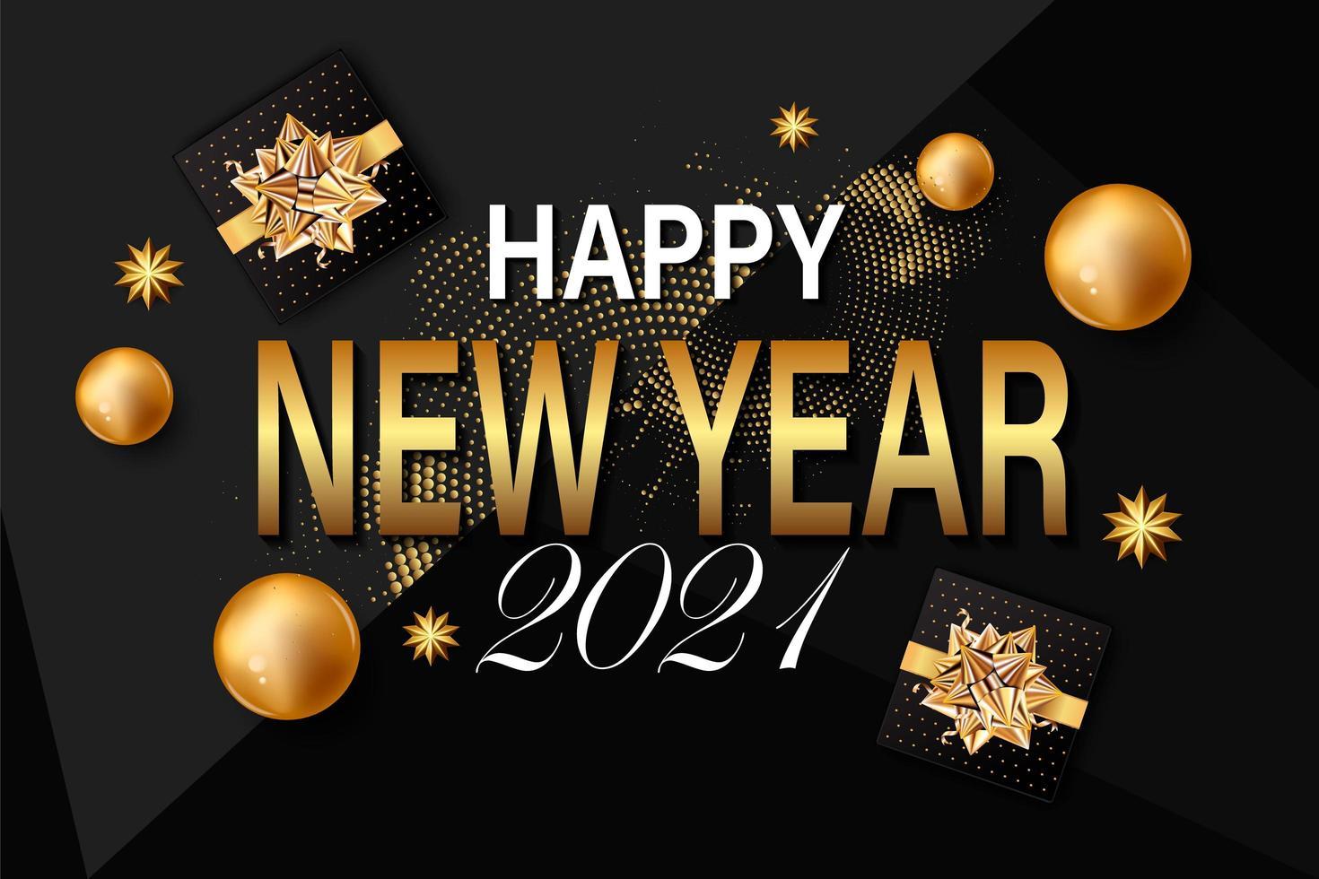Fundo de ano novo de 2021 vetor