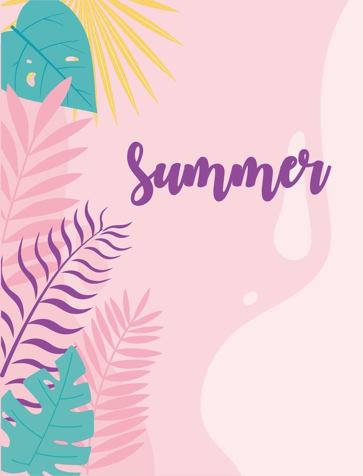 faixa de verão e férias tropicais vetor