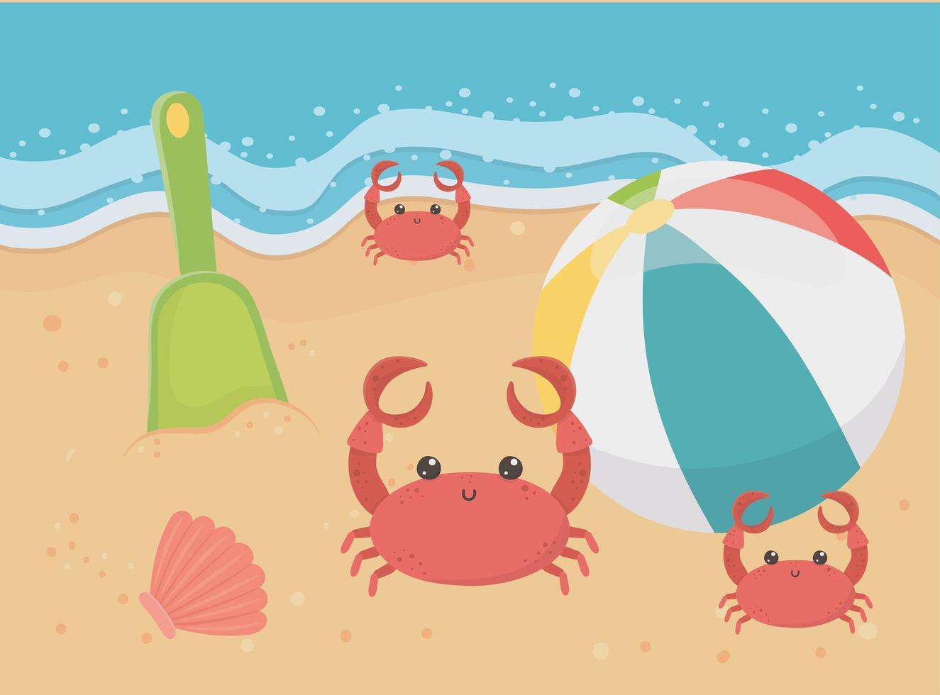 férias de verão divertidas e composição de praia vetor
