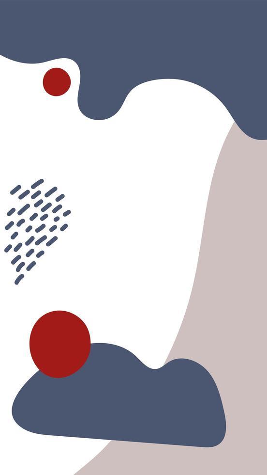 design de formas abstratas verticais em azul e bege vetor