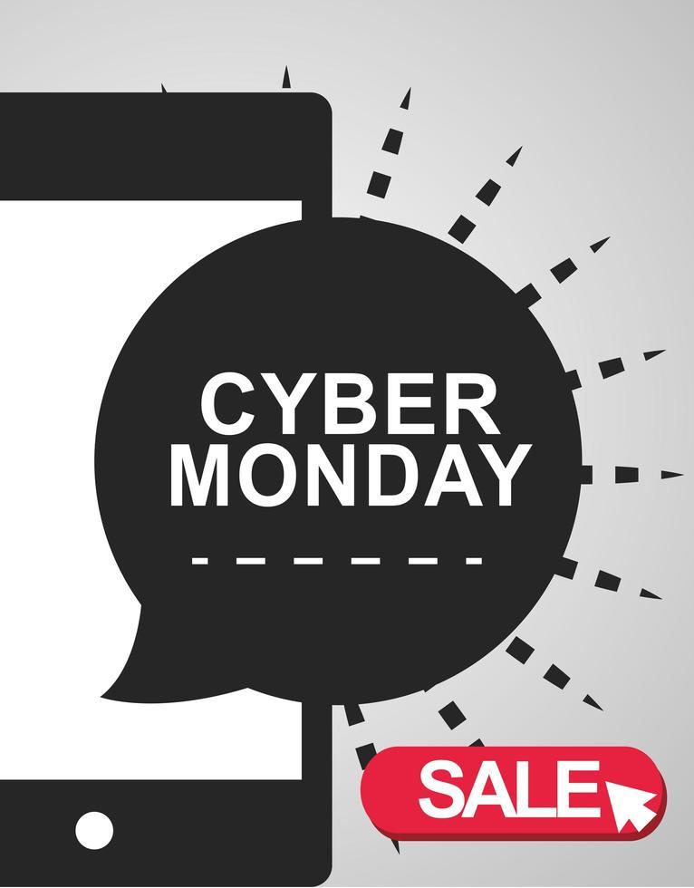 banner de venda de segunda-feira cibernética vetor