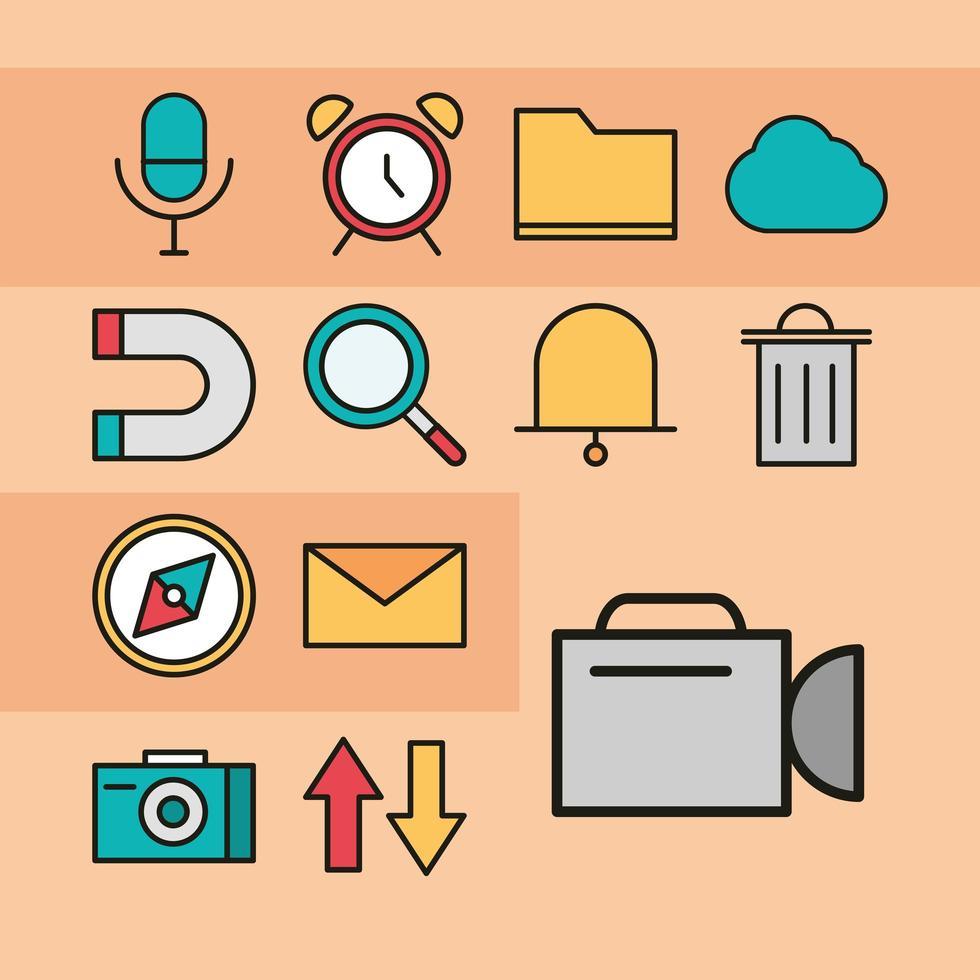 conjunto de ícones da interface do usuário vetor