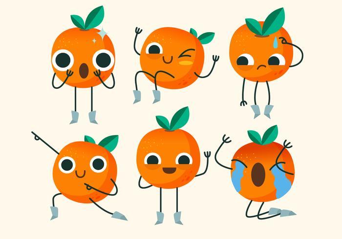Clementine Caráter Bonito Pose Ilustração Vetor