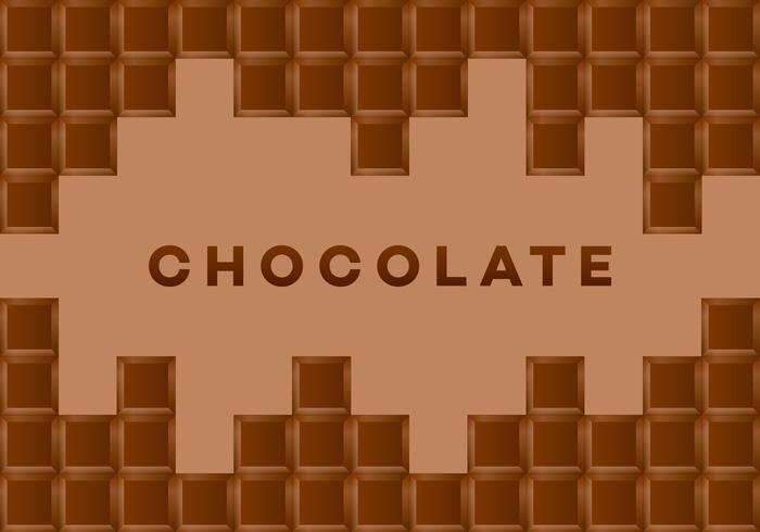 Cartão do vetor do chocolate