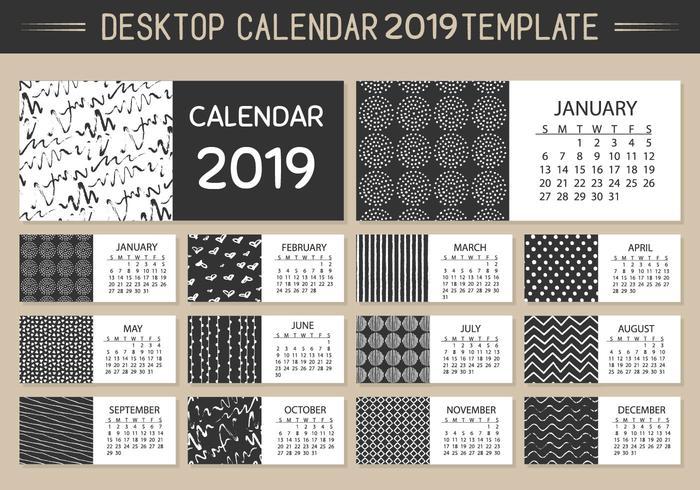 Calendário mensal Calendário 2018 Vector Template